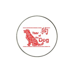 Year Of The Dog   Chinese New Year Hat Clip Ball Marker (4 Pack)