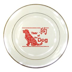 Year Of The Dog   Chinese New Year Porcelain Plates