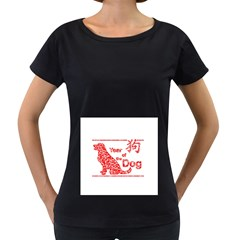 Year Of The Dog   Chinese New Year Women s Loose Fit T Shirt (black)