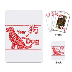 Year Of The Dog   Chinese New Year Playing Card