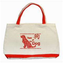Year Of The Dog   Chinese New Year Classic Tote Bag (red)