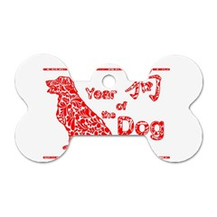 Year Of The Dog   Chinese New Year Dog Tag Bone (one Side)