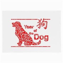 Year Of The Dog   Chinese New Year Large Glasses Cloth