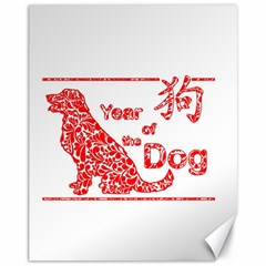 Year Of The Dog   Chinese New Year Canvas 11  X 14