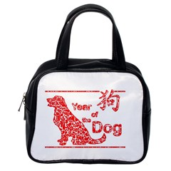 Year Of The Dog   Chinese New Year Classic Handbags (one Side)