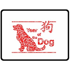 Year Of The Dog   Chinese New Year Fleece Blanket (large)