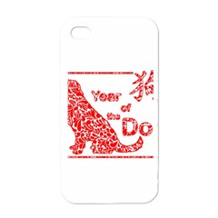 Year Of The Dog   Chinese New Year Apple Iphone 4 Case (white)