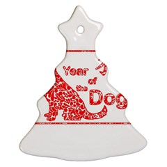 Year Of The Dog   Chinese New Year Christmas Tree Ornament (two Sides)