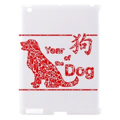 Year Of The Dog   Chinese New Year Apple Ipad 3/4 Hardshell Case (compatible With Smart Cover)
