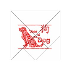 Year Of The Dog   Chinese New Year Acrylic Tangram Puzzle (4  X 4 )