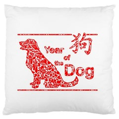 Year Of The Dog   Chinese New Year Large Cushion Case (one Side)