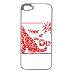 Year Of The Dog   Chinese New Year Apple Iphone 5 Case (silver)