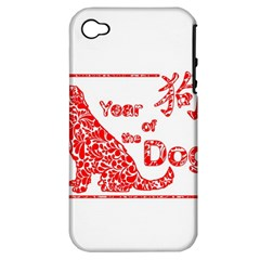 Year Of The Dog   Chinese New Year Apple Iphone 4/4s Hardshell Case (pc+silicone)