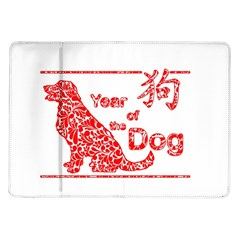 Year Of The Dog   Chinese New Year Samsung Galaxy Tab 10 1  P7500 Flip Case