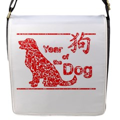 Year Of The Dog   Chinese New Year Flap Messenger Bag (s)