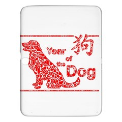 Year Of The Dog   Chinese New Year Samsung Galaxy Tab 3 (10 1 ) P5200 Hardshell Case
