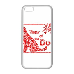Year Of The Dog   Chinese New Year Apple Iphone 5c Seamless Case (white)