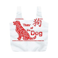 Year Of The Dog   Chinese New Year Full Print Recycle Bags (m)