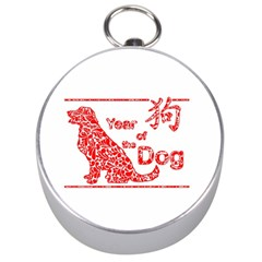 Year Of The Dog   Chinese New Year Silver Compasses