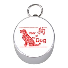 Year Of The Dog   Chinese New Year Mini Silver Compasses