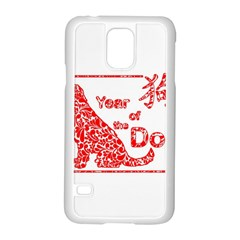 Year Of The Dog   Chinese New Year Samsung Galaxy S5 Case (white)