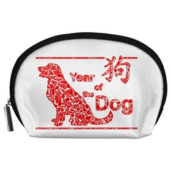 Year Of The Dog   Chinese New Year Accessory Pouches (large)
