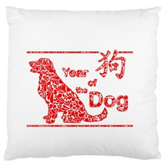 Year Of The Dog   Chinese New Year Standard Flano Cushion Case (two Sides)