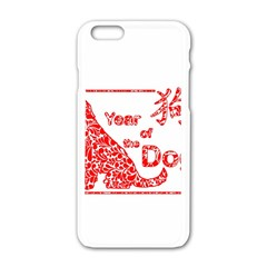 Year Of The Dog   Chinese New Year Apple Iphone 6/6s White Enamel Case