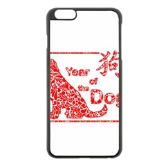 Year Of The Dog   Chinese New Year Apple Iphone 6 Plus/6s Plus Black Enamel Case