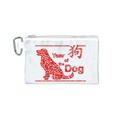 Year Of The Dog   Chinese New Year Canvas Cosmetic Bag (s)