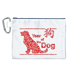 Year Of The Dog   Chinese New Year Canvas Cosmetic Bag (l)