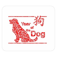 Year Of The Dog   Chinese New Year Double Sided Flano Blanket (small)