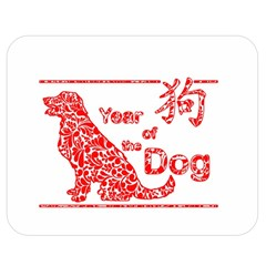 Year Of The Dog   Chinese New Year Double Sided Flano Blanket (medium)