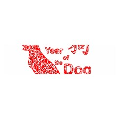 Year Of The Dog   Chinese New Year Satin Scarf (oblong)