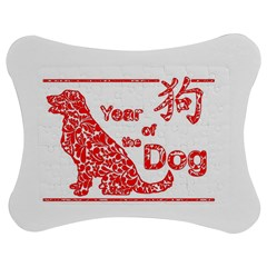 Year Of The Dog   Chinese New Year Jigsaw Puzzle Photo Stand (bow)