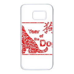 Year Of The Dog   Chinese New Year Samsung Galaxy S7 White Seamless Case