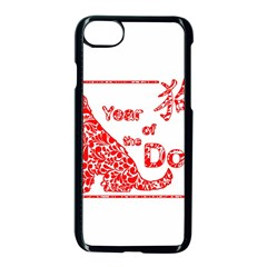 Year Of The Dog   Chinese New Year Apple Iphone 8 Seamless Case (black)