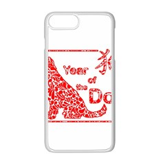 Year Of The Dog   Chinese New Year Apple Iphone 8 Plus Seamless Case (white)