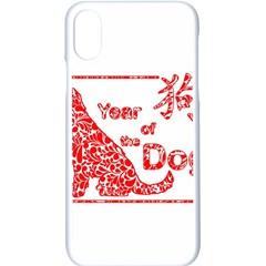 Year Of The Dog   Chinese New Year Apple Iphone X Seamless Case (white)
