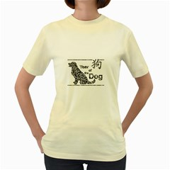 Year Of The Dog   Chinese New Year Women s Yellow T Shirt