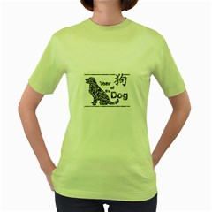 Year Of The Dog   Chinese New Year Women s Green T Shirt