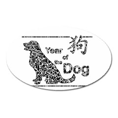 Year Of The Dog   Chinese New Year Oval Magnet