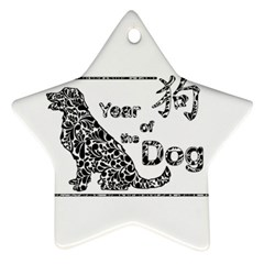 Year Of The Dog   Chinese New Year Star Ornament (two Sides)