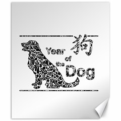 Year Of The Dog   Chinese New Year Canvas 8  X 10