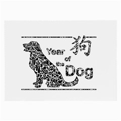 Year Of The Dog   Chinese New Year Large Glasses Cloth (2 Side)