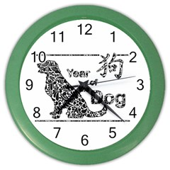 Year Of The Dog   Chinese New Year Color Wall Clocks
