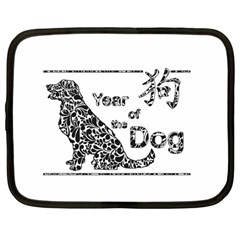 Year Of The Dog   Chinese New Year Netbook Case (large)