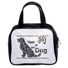 Year Of The Dog   Chinese New Year Classic Handbags (2 Sides)