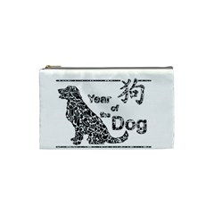 Year Of The Dog   Chinese New Year Cosmetic Bag (small)