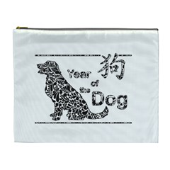 Year Of The Dog   Chinese New Year Cosmetic Bag (xl)